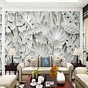 billige Vægklistermærker-Træer/blade Art Deco 3D Hjem Dekoration Klassisk Moderne Vægbeklædning, Lærred Materiale Lim påkrævet Vægmaleri, Værelse Tapet