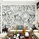 billige Vegglamper-Trær/blader Art Deco 3D Hjem Dekor Klassisk Moderne Tapetsering, Lerret Materiale selvklebende nødvendig Veggmaleri, Tapet