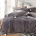 cheap Solid Duvet Covers-Duvet Cover Sets Solid Colored Poly / Cotton / 100% Cotton Reactive Print 4 Piece