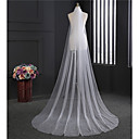 cheap Cake Toppers-One-tier Classic Wedding Veil Chapel Veils 53 Fringe Tulle
