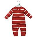 זול אוברולים טריים לתינוקות-בנים יום יומי כותנה מכנסיים - פסים קלאסי אודם
