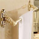tanie Akcesoria łazienkowe-Wieszak na ręczniki Wielofunkcyjne Nowoczesny Metal 1-ręcznik Bar Przytwierdzony do ściany