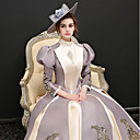 cheap Historical & Vintage Costumes-Rococo Costume Women's Dress Party Costume Rainbow Vintage Cosplay Satin/ Tulle Vinylon 3/4 Length Sleeves Puff/Balloon