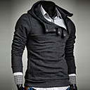 cheap Men's Necklaces-Men's Plus Size Sports Active Long Sleeves Hoodie - Solid Colored Hooded