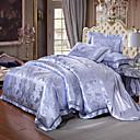 cheap 3D Duvet Covers-Duvet Cover Sets Luxury 4 Piece Silk/Cotton Blend Jacquard Silk/Cotton Blend 1pc Duvet Cover 2pcs Shams 1pc Flat Sheet