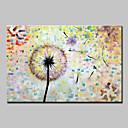 baratos Pinturas Florais/Botânicas-Mintura® grande tamanho pintados à mão pinturas a óleo da flor na lona moderna abstrata retrato da arte da parede para a decoração de casa sem moldura