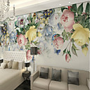 abordables Murales-Floral Art Decó 3D Decoración hogareña Clásico Modern Revestimiento de pared, Lona Material adhesiva requerida Mural, Revestimiento de