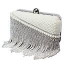 billige Clutch- og aftenvesker-Dame Poser polyester Aftenveske Krystalldetaljer / Perledetaljer / Dusk Beige