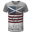 cheap Men's Athletic Shoes-Men's Street chic Slim T-shirt - Striped Print Round Neck / Short Sleeve