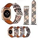 tanie Nawilżacze-Watch Band na Apple Watch Series 3 / 2 / 1 jabłko Bransoletka skórzana Skóra naturalna Opaska na nadgarstek