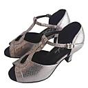 preiswerte Latein Schuhe-Damen Schuhe für den lateinamerikanischen Tanz Andere Tierhaut Absätze Maßgefertigter Absatz Maßfertigung Tanzschuhe Grau / Innen