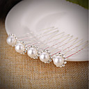 cheap Party Headpieces-Imitation Pearl / Rhinestone Hair Pin with Rhinestone / Imitation Pearl 5 Pieces Wedding Headpiece
