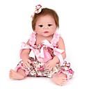 halpa Reborn Dolls-NPKCOLLECTION NPK DOLL Reborn Dolls Tyttö Nukke Tyttövauvat 22 inch Koko kehon silikoni Silikoni Vinyyli - Vastasyntynyt elävä Cute Käsintehty Lapsiturvallinen Non Toxic Lasten Unisex / Tyttöjen Lelut