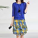 ieftine Picturi în Ulei-Pentru femei Șic Stradă Ieșire Bluză - Floral, Fustă Imprimeu / Primăvară / Vară