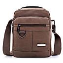cheap Shoulder Bags-Men's / Unisex Bags Canvas Shoulder Bag Zipper Brown / Army Green / Khaki