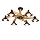 abordables Zapatos de Niña-LightMyself™ 6-luz Lámparas Araña / Lámparas Colgantes Luz Downlight Madera Madera / Bambú 110-120V / 220-240V Bombilla no incluida / E26 / E27