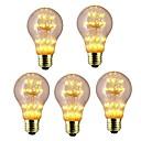 billige Spotlys med LED-5pcs 3W 300lm E26 / E27 LED-glødepærer A60(A19) 47 LED perler Integrert LED Stjernefull Dekorativ Varm hvit 220-240V