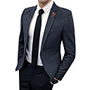cheap Hiking Trousers & Shorts-Men's Business Casual Plus Size Blazer-Solid Colored / Long Sleeve