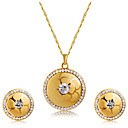 cheap Jewelry Sets-Women's Crystal / Cubic Zirconia Jewelry Set - Crystal, Zircon Classic, Fashion Include Stud Earrings / Pendant Necklace Gold For Wedding / Party