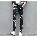 hesapli Erkek Oxfordları-erkeklerin normal orta yükselişi mikro elastik kot pantolon, cadde şık geometrik polyester her mevsim