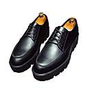 זול נעלי אוקספורד לגברים-בגדי ריקוד גברים PU אביב / סתיו נוחות נעלי אוקספורד שחור