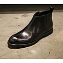 זול סניקרס לגברים-בגדי ריקוד גברים מגפיי קרב עור נאפה Leather / עור סתיו / חורף נוחות מגפיים שחור / Wine