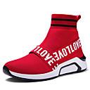 זול נעלי ספורט לגברים-בגדי ריקוד גברים כותנה / דמוי עור אביב / קיץ נוחות נעלי אתלטיקה הליכה שחור / אדום