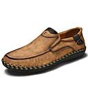 hesapli Erkek Düz Ayakkabıları ve Makosenleri-Erkek Ayakkabı Tüylü İlkbahar yaz / Sonbahar Kış Mokasen & Bağcıksız Ayakkabılar Günlük / Ofis ve Kariyer için Siyah / Sarı / Haki