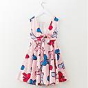 זול שמלות לבנות-שמלה ללא שרוולים פסים / חיה יומי / חגים פשוט / פעיל בנות ילדים