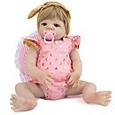 hesapli Düğün Hediyeleri-NPK DOLL Yeniden Doğmuş Bebekler Kız Bebeklerin 22 inç Tam Vücut Silikon Silikon Vinil - Yeni doğan canlı Tatlı El Yapımı Çocuk Kilidi Yeni Dizayn Kid Unisex / Genç Kız Oyuncaklar Hediye / Non Toxic