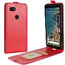 זול מגנים לטלפון & מגני מסך-מגן עבור Google Pixel 2 XL / Pixel 2 מחזיק כרטיסים / נפתח-נסגר כיסוי מלא אחיד קשיח עור PU ל Pixel 2 / Pixel 2 XL
