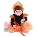 tanie Lalki-NPK DOLL Lalki Reborn Dziecko 22 in Silikony całego ciała Silikon Winyl - Noworodek Jak żywy Śłodkie Wyrób ręczny Bezpieczne dla dziecka Nowy design Dzieciak Unisex / Dla dziewczynek Zabawki Prezent