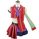 cheap Anime Costumes-Inspired by Macross Frontier Cosplay Anime Cosplay Costumes Cosplay Suits Other Short Sleeves Shirt Top Skirt Bow More Accessories