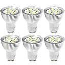 billige LED-bi-pinlamper-YouOKLight 6stk 6W 500lm GU10 LED-spotlys 15 LED Perler SMD 5730 Dekorativ Varm hvid Kold hvid 85-265V