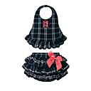 tanie Zestawy ubrań dla dziewczynek-Dziecko Dla dziewczynek Na co dzień Urlop Pled Kokarda / Plisy Bez rękawów Bawełna Komplet odzieży