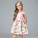 ieftine Set Îmbrăcăminte Bebeluși-Copii Fete Simplu / Vintage / De Bază Școală Floral / Jacquard Brodat / Imprimeu Manșon Lung Rochie / Bumbac