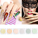 billige Negleglitter-1set / 6pcs Artificial Nail Tips Glimmer 6 farger Neglekunst Manikyr pedikyr Glitrende