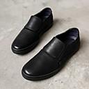זול נעלי בד ומוקסינים לגברים-בגדי ריקוד גברים עור אביב / סתיו נוחות נעליים ללא שרוכים שחור