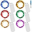 tanie Taśmy świetlne LED-6 x 1M Łańcuchy świetlne 10 Diody LED Ciepła biel / Niebieski / Zmiana Wodoodporny / Dekoracyjna / Święta Zasilanie bateriami AA 6 szt. / IP65
