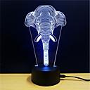 זול תאורה מודרנית-1set אור תלת ממדי DC מופעל הפגת מתחים וחרדה / החלפת צבעים / עם יציאת USB 5 V