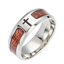 cheap Men's Rings-Men's Band Ring - Stainless Cross Fashion 6 / 7 / 8 Brown For Daily