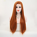cheap Synthetic Capless Wigs-Synthetic Lace Front Wig Straight Style Lace Front Wig Orange Synthetic Hair Women's Natural Hairline Wig Long Natural Wigs