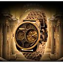 abordables Lupas-Oulm Hombre Reloj Casual / Reloj de Moda Japonés Resistente al Agua / Reloj Casual Aleación / Piel Banda Lujo / Moda Negro / Dorado