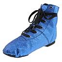 זול נעליים לטיניות-נעלי ג'אז נצנצים שטוחות שטוח מותאם אישית נעלי ריקוד כחול / אימון