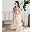 זול שמלות לבנות-שמלה ללא שרוולים פרחוני פשוט בנות
