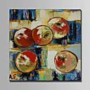 זול ציורי שמן-ציור שמן צבוע-Hang מצויר ביד - מופשט טבע דומם מודרני בַּד