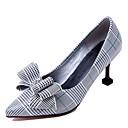 olcso Női magassarkú cipők-Női Cipő Bőrutánzat Tavasz / Nyár Kényelmes Magassarkúak Tűsarok Erősített lábujj Sárga / Zöld