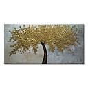 זול ציורי שמן-ציור שמן צבוע-Hang מצויר ביד - פרחוני / בוטני עכשווי / מודרני כלול מסגרת פנימית / בד מתוח