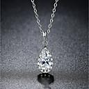 Χαμηλού Κόστους Κολιέ-Γυναικεία Διαμάντι Cubic Zirconia Μενταγιόν Αχλάδι Πασιέντζα προσομοίωση Κρεμαστό κυρίες Κλασσικό Μοντέρνα Bling Bling Druzy Ζιρκονίτης Καρφίτσα Κοσμήματα Λευκό Για