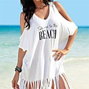 cheap Accessories For GoPro-Women's Off Shoulder Cover-Up - Letter Tassel / Print